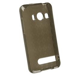 Clear/ Smoke Argyle TPU Rubber Case for HTC EVO 4G