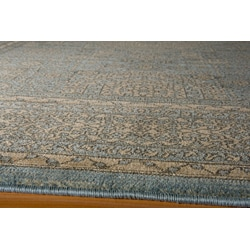 Preston Blue Tabriz Rug (9'3 x 12'6)