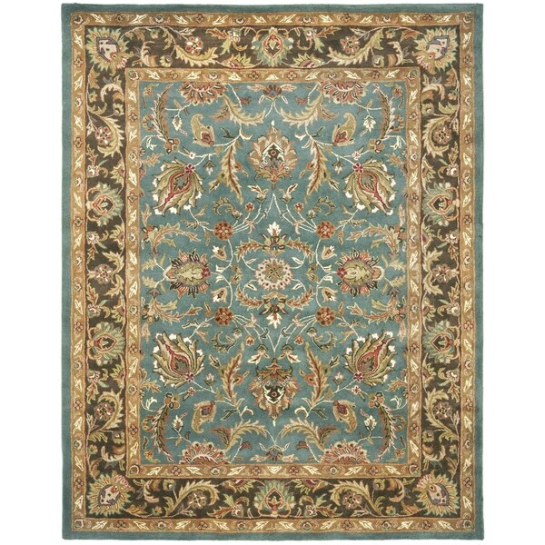 Safavieh Handmade Heritage Blue/ Brown Wool Rug (4' x 6')