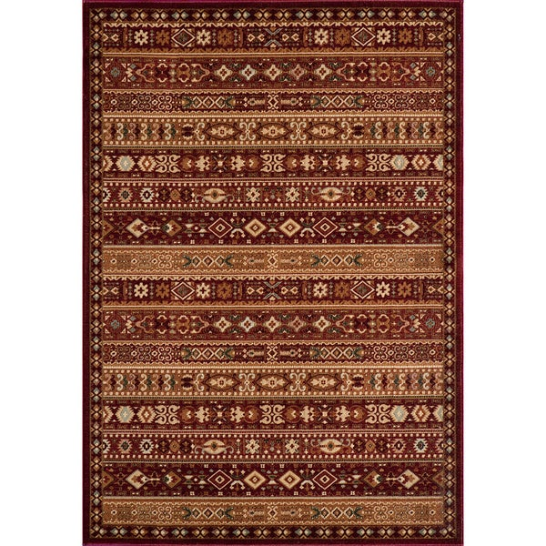 Preston Red Gabbeh Rug (5'3 x 7'6)