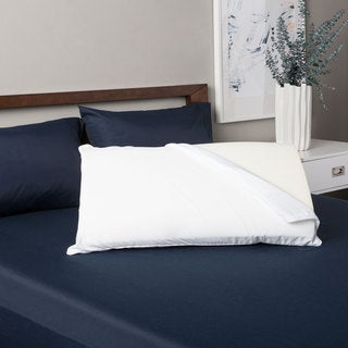 Grande Hotel Collection Reversible Memory Foam and Fiber Pillow