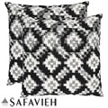 Deco 18-inch Black/ White Decorative Pillows (Set of 2)
