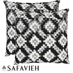 Safavieh Deco 22-inch Black/ White Decorative Pillows (Set of 2)