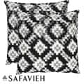 Deco 22-inch Black/ White Decorative Pillows (Set of 2)