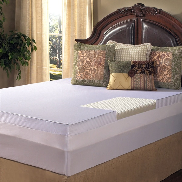 Grande Hotel Collection 4-inch Comfort Loft Memory Foam Mattress Topper with Cover (As Is Item)