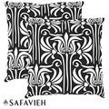 Safavieh Monaco 22-inch Black/ White Decorative Pillows (Set of 2)