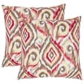 Ikat 18-inch Brown/ White Decorative Pillows (Set of 2)