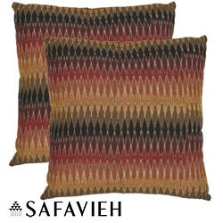 Safavieh Rainbow Cascade 18-inch Decorative Pillows (Set of 2)