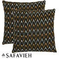 Deco 18-inch Black/ Gold Decorative Pillows (Set of 2)