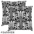Monaco 18-inch Black/ White Decorative Pillows (Set of 2)
