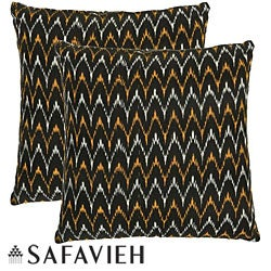 Deco 22-inch Black/ Gold Decorative Pillows (Set of 2)