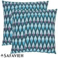 Diamond Ikat 22-inch Blue Decorative Pillows (Set of 2)