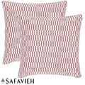Safavieh Manhattan 22-inch Red/ Ivory Decorative Pillows (Set of 2)