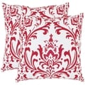 Paris 18-inch Red/ White Decorative Pillows (Set of 2)
