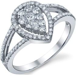 18k White Gold 5/8ct TDW Diamond Engagement Ring (G-H, SI1-SI2)