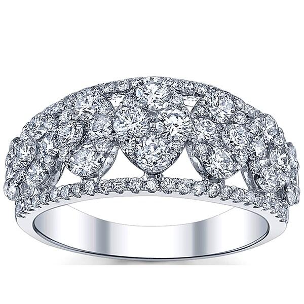 18k White Gold 1 5/8ct TDW Diamond Ring (G-H, SI1-SI2)