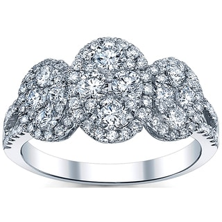 18k White Gold 1 1/3ct TDW Diamond Engagement Ring (G-H, SI1-SI2)