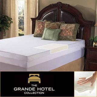 Grande Hotel Collection 3-inch Memory Foam Mattress Topper with Egyptian Cotton Cover