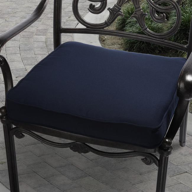 Clara 19 inch Outdoor Navy Blue Cushion with Sunbrella