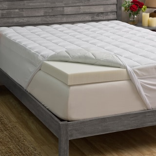 Grande Hotel Collection 5.5-inch Memory Foam and Fiber Mattress Topper