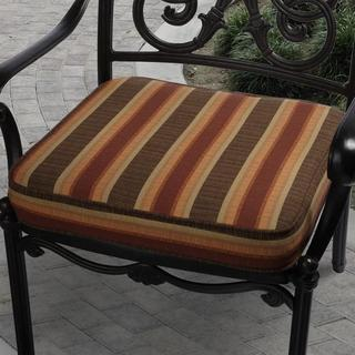 Clara 19-inch Indoor/ Outdoor Autumn Stripe Cushion Made with Sunbrella