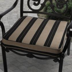 Clara 19-inch Outdoor Brown/ Black Stripe Cushion Made with Sunbrella