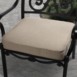 Clara 19-inch Outdoor Textured Beige Cushion Made with Sunbrella