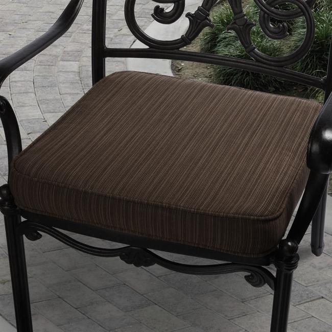 19 in Outdoor Textured Brown Cushion Made w Sunbrella Patio Furniture Garden
