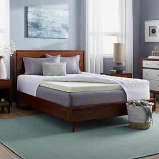 Grande Hotel Collection 3-inch Memory Foam and 1.5-inch Fiber Mattress Topper