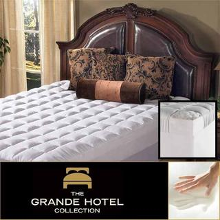 Grande Hotel Collection 4.5-inch Memory Foam and Fiber Mattress Topper