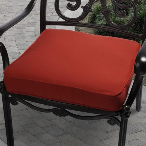 Clara 19-inch Outdoor Red Cushion Made with Sunbrella