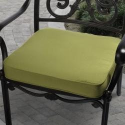 Clara 19-inch Outdoor Green Cushion Made with Sunbrella