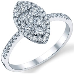 18k White Gold 3/5ct TDW Round-cut Diamond Engagement Ring (G-H, SI1-SI2)