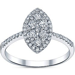 18k White Gold 3/5ct TDW Diamond Engagement Ring (G-H, SI1-SI2)