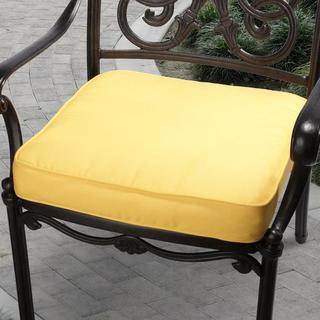Clara 20-inch Indoor/ Outdoor Sunflower Yellow Cushion made with Sunbrella