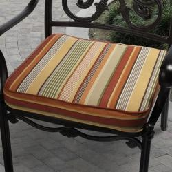Kate Orange Stripe Outdoor Cushion with P. Kaufmann Fabric and Zipper Closure