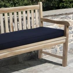 Clara Navy Outdoor Bench Cushion Made with Sunbrella