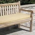 Clara Indoor/ Outdoor Textured Yellow Bench Cushion Made with Sunbrella