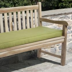 Clara 60-inch Outdoor Green Bench Cushion with Sunbrella
