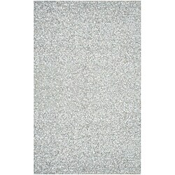Hand-tied Pelle Short Shag White Leather Rug (5' x 8')