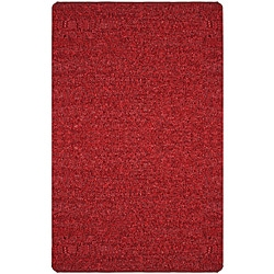 Hand-tied Pelle Short Shag Red Leather Rug (5' x 8')