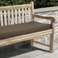 Clara 48-inch Outdoor Textured Brown Bench Cushion with Sunbrella