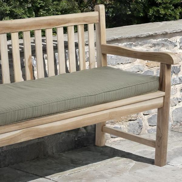 outdoor textured green bench cushion w sunbrella patio furniture