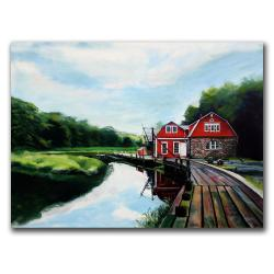 Colleen Proppe 'The Boathouse' Canvas Art