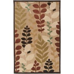 Woven Terrance Indoor/Outdoor Floral Rug (7'6 x 7'6)