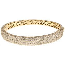 Sterling Silver Cubic Zirconia Bangle Bracelet