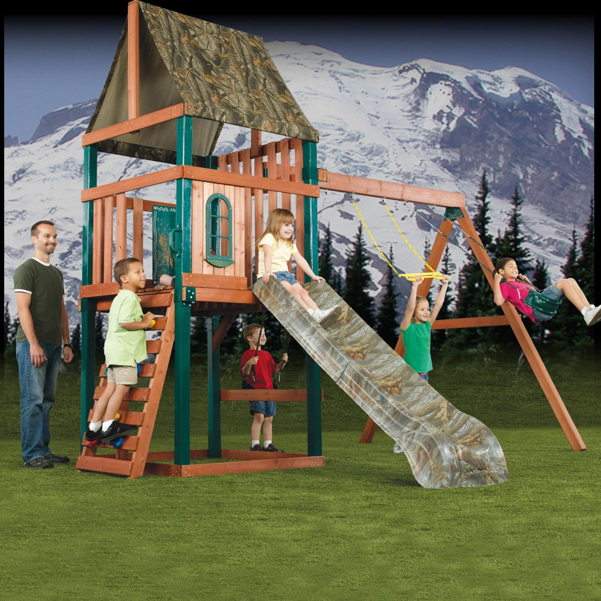 Swing-N-Slide Realtree Woodsman Wood Complete Play Set