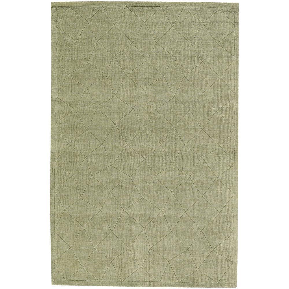 Hand-Tufted Mandara Green New Zealand Wool Rug (9' x 13')
