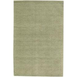 Hand-Tufted Mandara Green New Zealand Wool Rug (9' x 13')