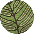 Hand-tufted Mandara New Zealand Wool Rug (7'9 Round)